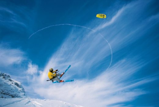 A Pioneer in Alpine Kiting