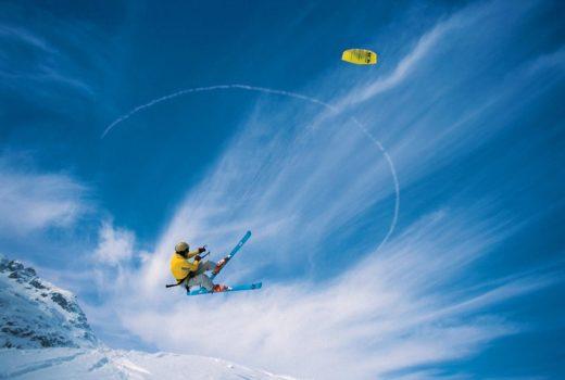 Ein Pionier des alpinen Kitesurfens